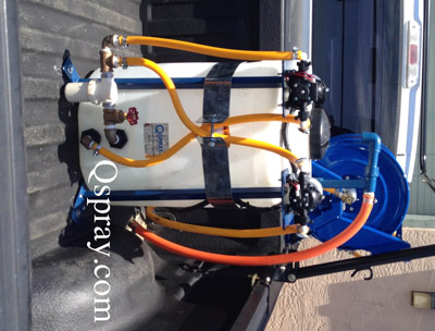 25 gallon space saving spray rig