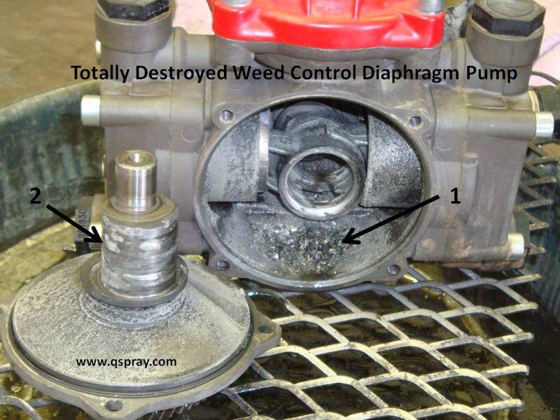 weed control sprayer pump damage