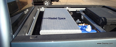 pest control sprayer truck: space is a premium - don't waste it