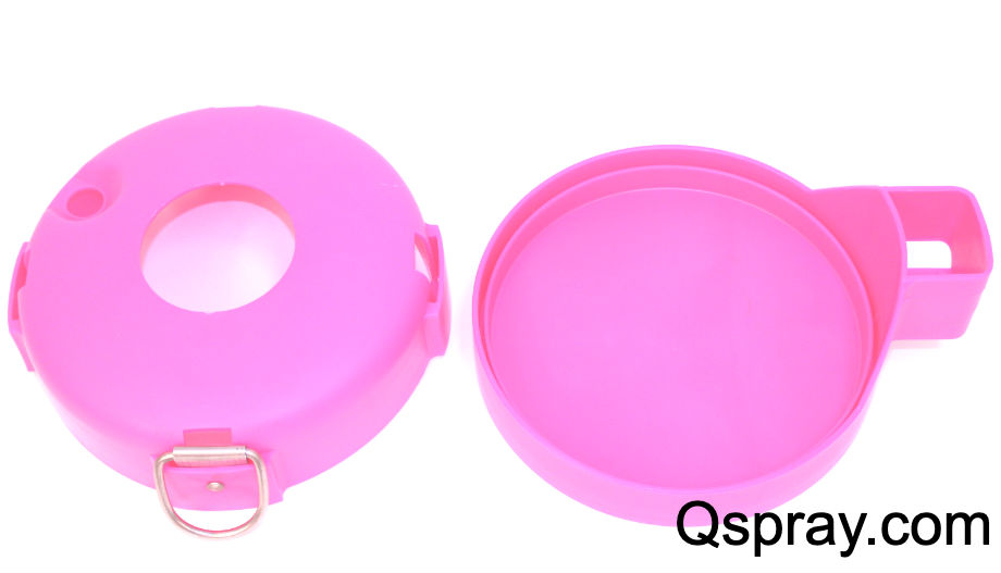 pink B&G sprayer can covers