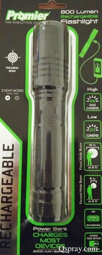 rechargeable pest control flashlight